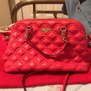 Kate Spade crab red quilted small rachelle